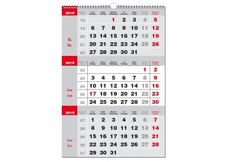 Calendar personalizat 2019 Triptic 2 culori