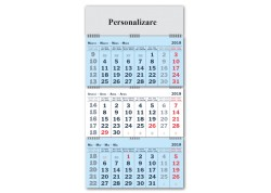Calendar personalizat 2019 Triptic pliabil